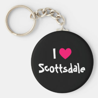 I Love Scottsdale Basic Round Button Keychain