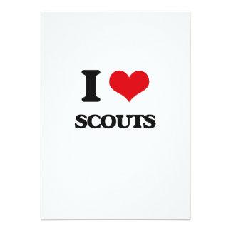 I love Scouts 5x7 Paper Invitation Card
