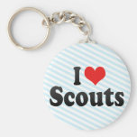 I Love Scouts Keychains