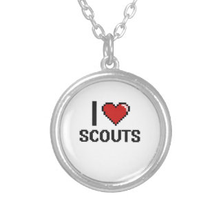 I love Scouts Round Pendant Necklace