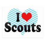 I Love Scouts Post Card