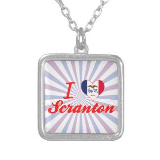 I Love Scranton Iowa Personalized Necklace