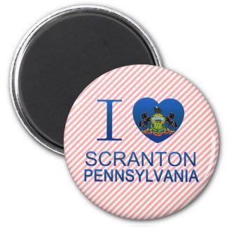 I Love Scranton, PA 2 Inch Round Magnet