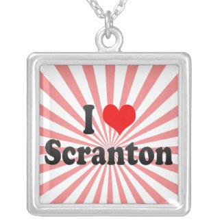 I Love Scranton United States Necklace
