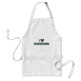 I Love Scrapbooking Adult Apron