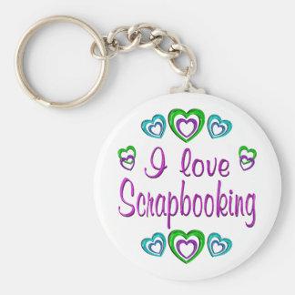 I Love Scrapbooking Basic Round Button Keychain