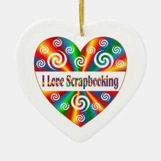 I Love Scrapbooking Ceramic Ornament
