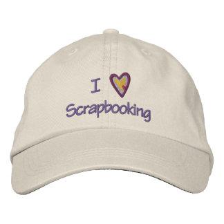 I Love Scrapbooking Embroidered Baseball Cap