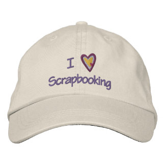 I Love Scrapbooking Embroidered Baseball Hat