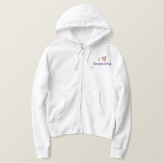 I Love Scrapbooking Embroidered Hoodie
