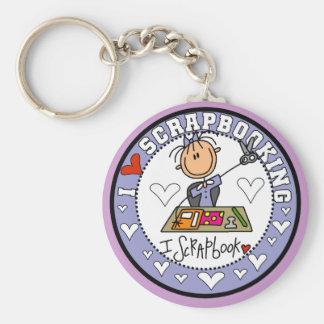 I Love Scrapbooking Keychain