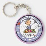 I Love Scrapbooking Keychains