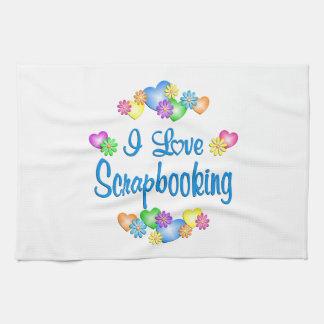 I Love Scrapbooking Kitchen Towel