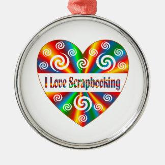 I Love Scrapbooking Metal Ornament