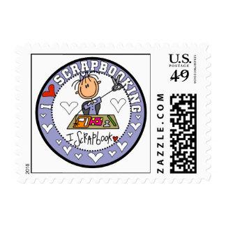I Love Scrapbooking Postage Stamps