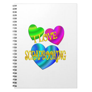I Love Scrapbooking Spiral Notebook