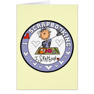 I Love Scrapbooking Stationery Note Card
