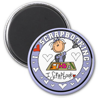 I Love Scrapbooking Tshirts and Gifts 2 Inch Round Magnet