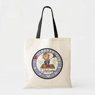 I Love Scrapbooking Tshirts and Gifts Budget Tote Bag