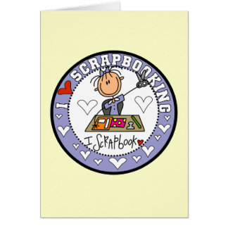 I Love Scrapbooking Tshirts and Gifts Card