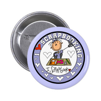 I Love Scrapbooking Tshirts and Gifts Pinback Button