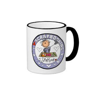 I Love Scrapbooking Tshirts and Gifts Ringer Coffee Mug