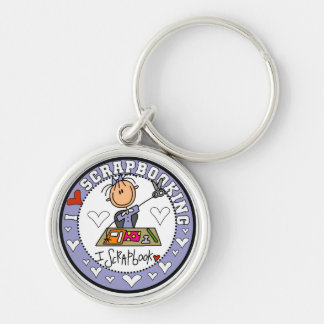 I Love Scrapbooking Tshirts and Gifts Silver-Colored Round Keychain
