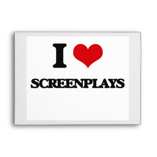 I Love Screenplays Envelopes