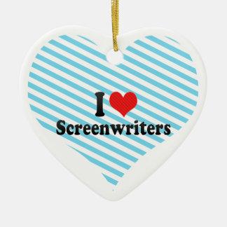 I Love Screenwriters Ornaments