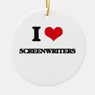 I love Screenwriters Ornament