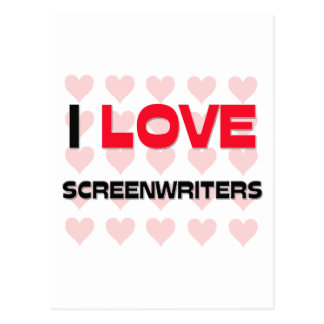 I LOVE SCREENWRITERS POSTCARD