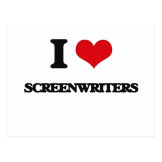 I love Screenwriters Post Card