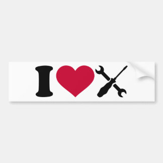 I love screwdriver tools bumper sticker