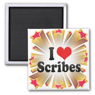 I Love Scribes 2 Inch Square Magnet