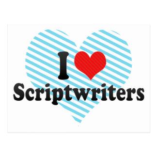 I Love Scriptwriters Postcard