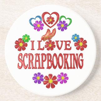 I Love Scrpbooking Drink Coaster