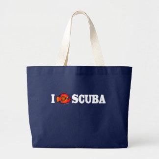 I Love Scuba Jumbo Tote Bag