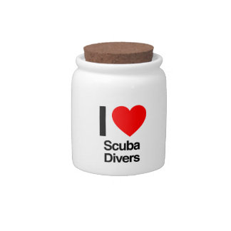 i love scuba divers candy dishes