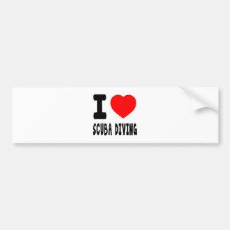 I Love Scuba Diving Car Bumper Sticker