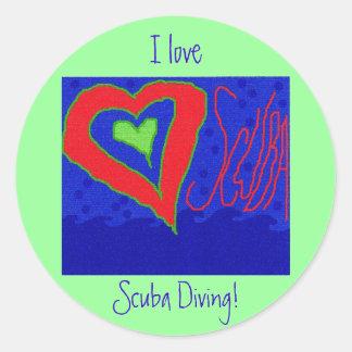 I Love Scuba Diving! Classic Round Sticker