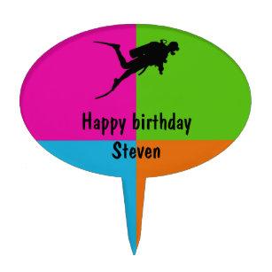 Stevens cake toppers zazzle i love scuba diving homeware cake topper junglespirit Choice Image