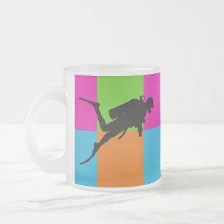 I love scuba diving - homeware frosted glass coffee mug