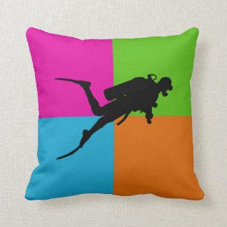 I love scuba diving - homeware throw pillow