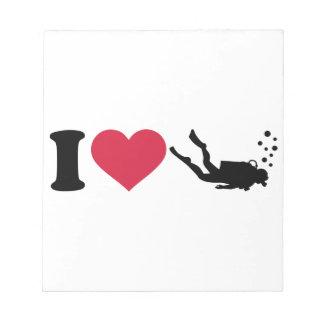 I love Scuba Diving Notepad