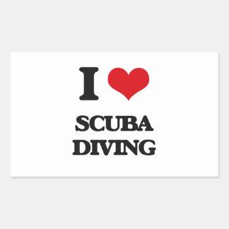 I Love Scuba Diving Stickers