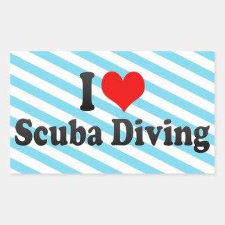 I love Scuba Diving Rectangular Sticker
