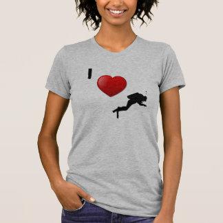 I LOVE SCUBA DIVING T-SHIRT for women