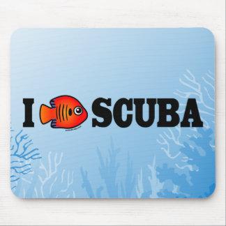 I Love Scuba Mouse Pad