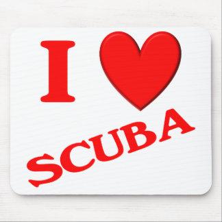 I Love Scuba Mouse Pads