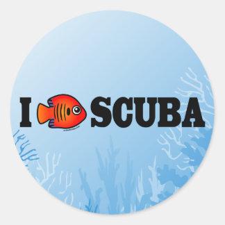 I Love Scuba Sticker